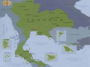 Карта Таиланда с островами