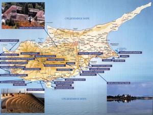 Кипр - это интересно_карта Кипра