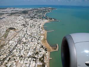Побережье Туниса с самолета