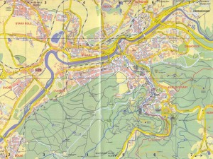 Карта Карловы Вары