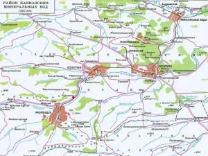 Кавказские минеральные воды карта