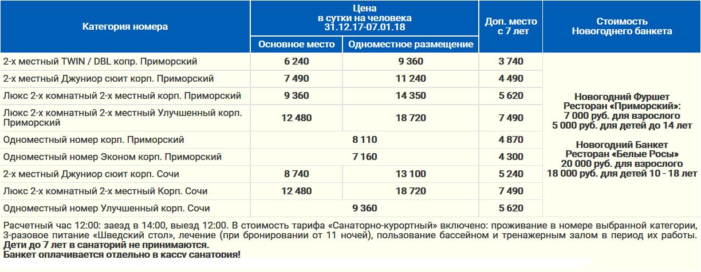 Новый Год 2017 - 2018 в санатории Сочи