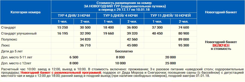 Новый Год 2017 - 2018 в санатории ЗОЛОТОЙ КОЛОС Сочи